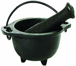 Cast Iron Mortar & Pestle or Cauldron