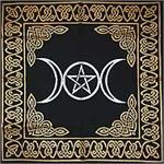 Altar Cloths printed in Gold & Silver on Black Cotton & Silky Rayon Cloth